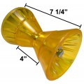 """4"""" Bow Roller with End Bells - Yellow Poly Vinyl - Mounting Bolt Included"""