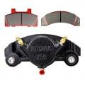 Kodiak Caliper 250 with Pads & Slider Pins - Fits 7,000 to 8,000 lb. Axles - E-Coat