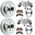 "Kodiak 12"" Integral Hub/Rotor Single Axle Disc Brake Kit - 6 on 5 1/2"" - Stainless Steel Calipers"