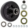 "Dexter 12"" x 2"" Brake Drum - 6 on 5 1/2"" with 1 3/4"" x 1 1/4"" Bearings (25580 x 15123) - 1/2"" Studs"
