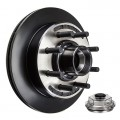 "Kodiak 13"" Vented Integral Hub/Rotor - 8 on 6 1/2"" with 5/8"" Studs - E-Coat Finish"